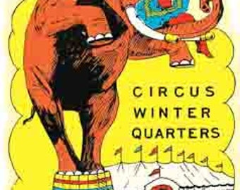 Vintage Style  Sarasota Florida Ringling Brothers Circus Travel Decal sticker