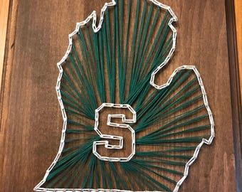 Michigan state String art