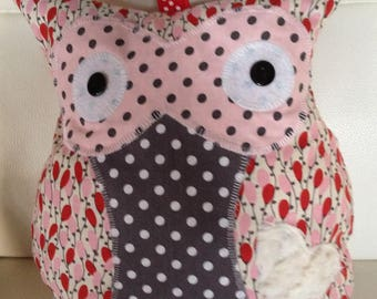 OWL plush Lisa musical plush pink zipper