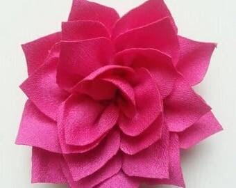 fleur en tissu  rose 70mm