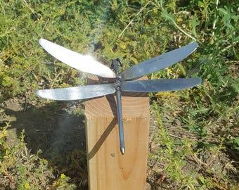 Dragonfly sculpture yard art