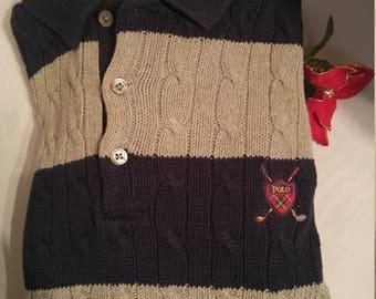 Classic Ralph Lauren Polo-Style Cotton Sweater (M)