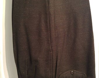Gorgeous Bachrach Speckled Wool Slacks (34/32)