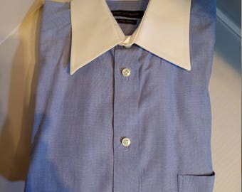Beautiful Henry Jacobson Dress Shirt With Contrast Collar (16/34-35)