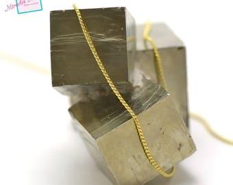 """1 m chain mesh """"1 mm wavy"""", Golden 01"""