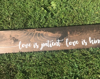Love is Patient ~ Love is Kind Wall Decor