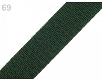 1 meter of 30 mm khaki nylon strap