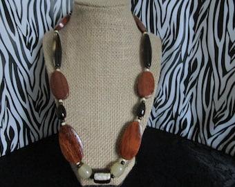 Brown & Beige Necklace
