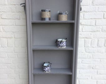 Light grey shelf wooden frame