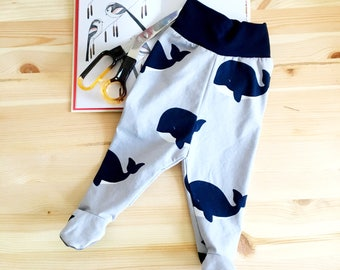Whale footed leggings 0-3 months