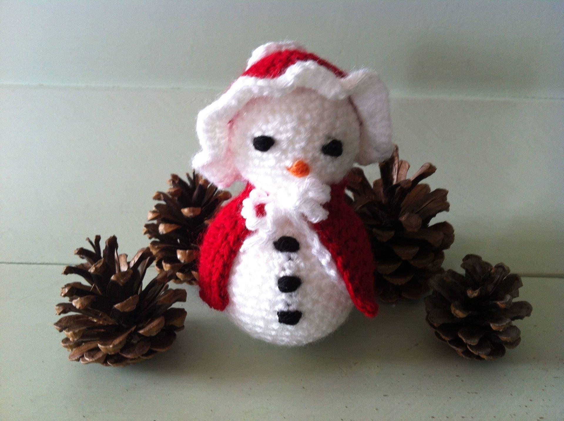 Bonhomme de neige miss no lle au crochet - Bonhomme de neige au crochet ...