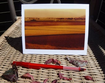 Golden Field - Wanderer Collection - Handmade Blank Photography Greeting Card