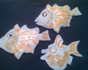 decorative hanging fish.