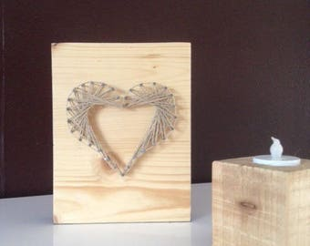 Frame for wood and wire heart
