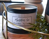 Mountain Air 14oz. Black Tin + Wood Wick