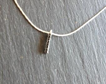 Necklace fine black zircon