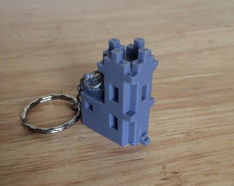 Minecraft Villager Church Keychain