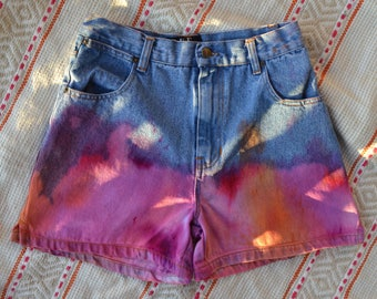 vintage rue 21 tie dyed denim shorts