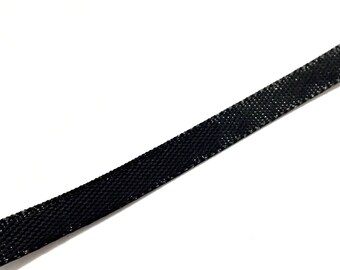 1 m organza Ribbon Black 10 mm ❤ ❤