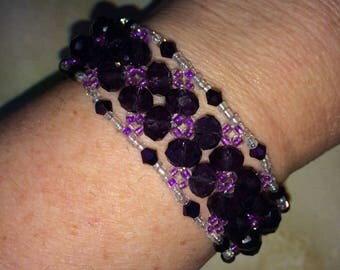 Purple Cuff Style Bracelet