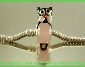 Cat FAN121 for bracelet necklace charms European glass bead