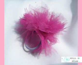 elastic pink Pompom (for the wedding or baptism) to be a real Princess
