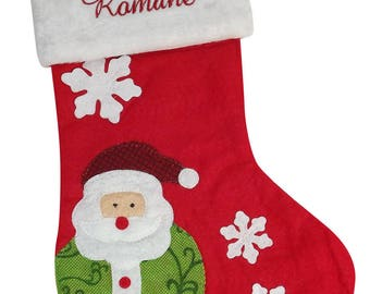 Personalized Christmas Santa to fill and suspend boot