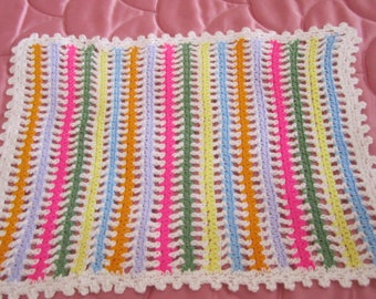 Plaid blanket for bed doll