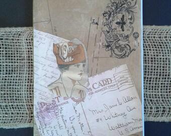 Hand Bound Journal, Handmade, Vintage Inspired