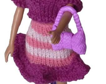 Plum, small top skirt, scarf and headband set