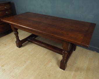 Solid Oak Refectory Dining Table ref2313