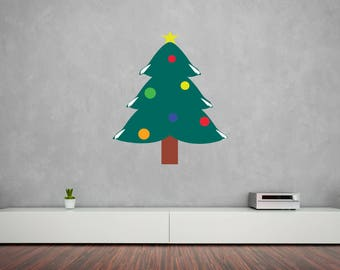 Christmas Tree Vinyl Wall Decal
