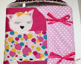 Pink and Brown cat Bunting