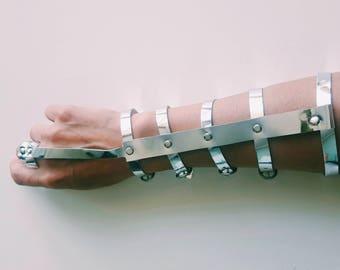 Faux Leather Silver Arm-Our Bracelet