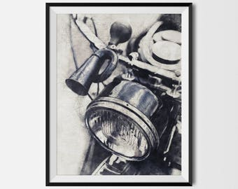 Vintage Motorcycle, Motorcycle Printable, Motorcycle Poster,Motorcycle Print,Motorcycle Wall Art,Motorcycle Art,Biker Gift, INSTANT DOWNLOAD