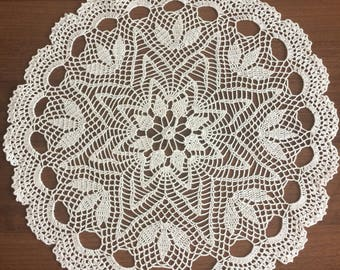Handmade crochet napkin boho rustic