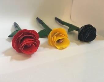 Duck Tape Rose Pens (Set of 3)