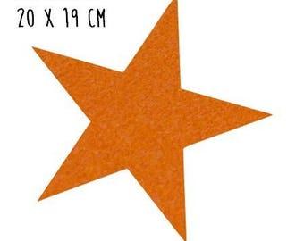 Star pattern fusible thin 20 x 19 cm orange Velvet