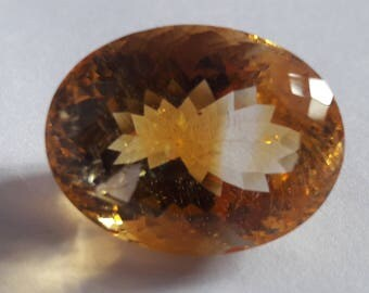 1 Piece, 100% Natural Citrine Oval Shape Faceted cut, Citrine Faceted Oval Cut, Loose Gemstone Beads, 22x12mm Size, Faceted Citrine