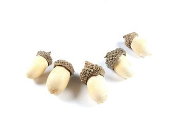 5 tassels in natural light wood +/-30 to 40mm x 16 and 18mm NON CONCH * Christmas Deco * LBP00700