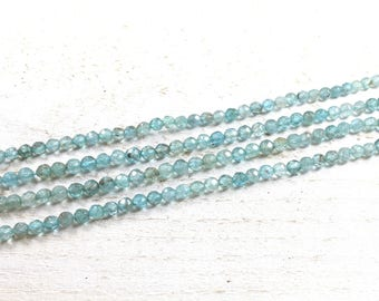 faceted blue apatite natural 4mm LBP00677 10 beads