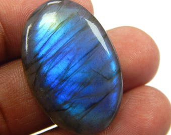 On Shop  Sale 52.35 ct Natural Labradorite loose gemstone Oval shape 23x34 mm Blue Fire Labradorite on wholesale price