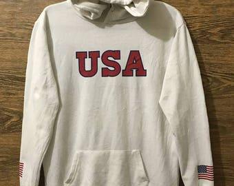 Sale Rare Browny USA hoodies/Big print logo spell out/Size Medium.