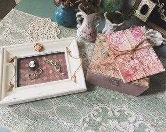 Hand made trinket tray and jewelry box