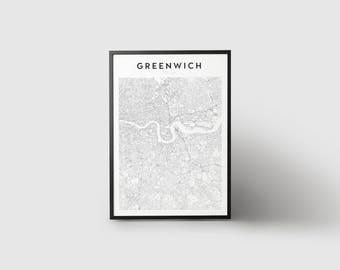Greenwich Map Print