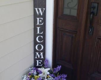 Welcome sign for front door, porch welcome sign, front door welcome sign, rustic welcome,  welcome wood sign, reclaimed wood