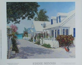 Princess Street - Bahamian art print of original oil painting by Eddie Minnis