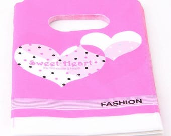 set of 50 clutch bag of plastic jewelry gifts 15x9cm