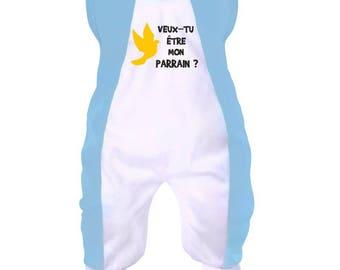 Baby onesie: will you be my godfather?