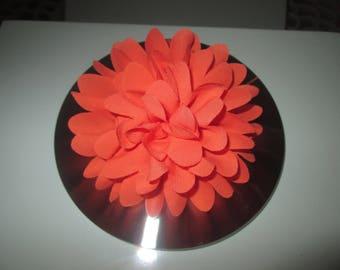 Clip hair Fleur Orange, Hairclip, brooch, ceremony, marriage, children...
